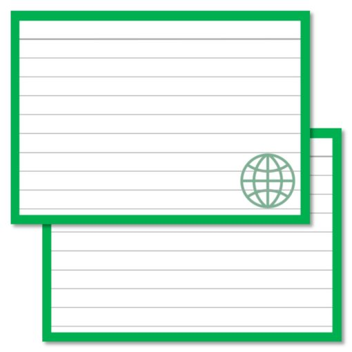 Geography Leitner Flashcards A7 size