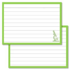 Leitner Biology flashcards A7 size