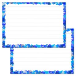 Blue Confetti Leitner flashcards A7 size