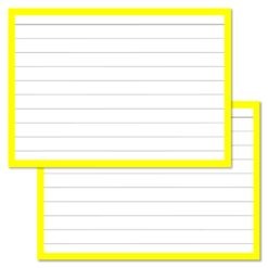 Yellow Leitner Flashcards A7