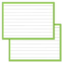 Leitner Flashcards Light Green A7