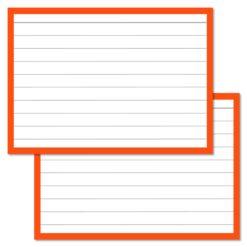 Orange Leitner Flashcards A7