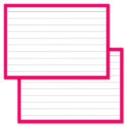 Pink Leitner Flashcards A7