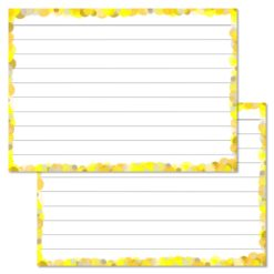 Yellow Confetti Leitner Flashcards A7