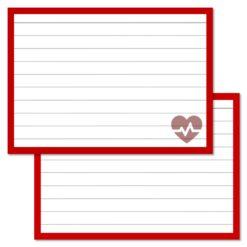 Medicin Heart Leitner flashcards A7 size