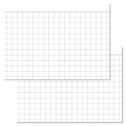 Checkered White Leitner flashcards A7 size