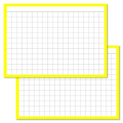Checkered Yellow Leitner flashcards A7 size