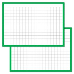 Checkered Green Leitner flashcards A7 size