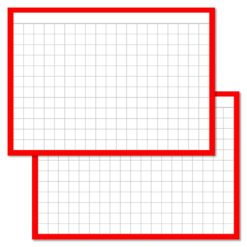 Checkered Red Leitner flashcards A7 size