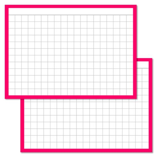 Checkered Pink Leitner flashcards A7 size