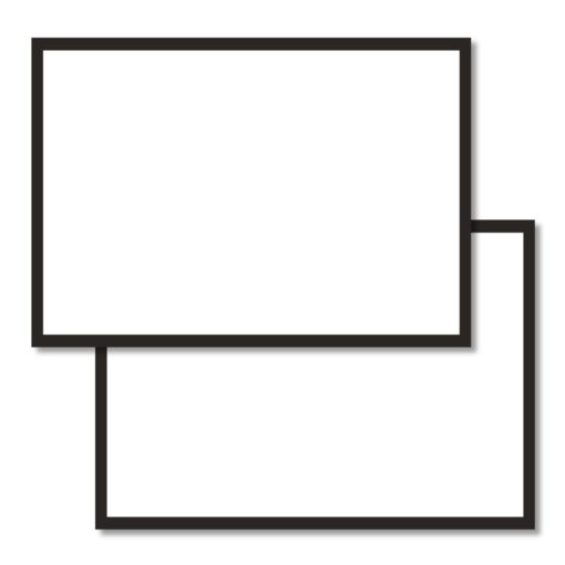 A6 flashcards blank with a black border