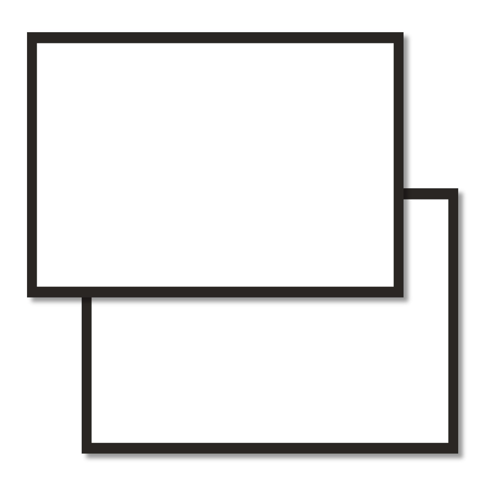 Blank Flashcards With Black Border A6 Flashcards And Stationery