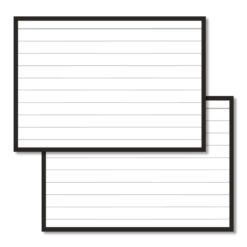 Flashcards A7 black border