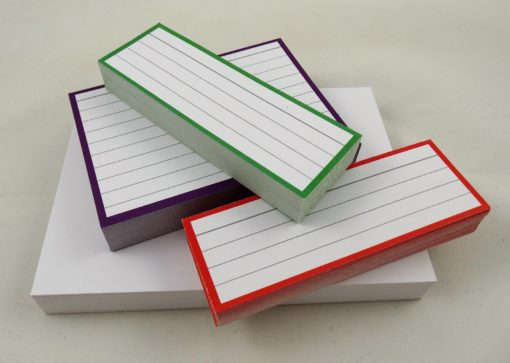 Testpack Flashcards Green Purple Red Blank