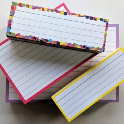 Testpack Flashcards Confetti Yellow Pink Lilac