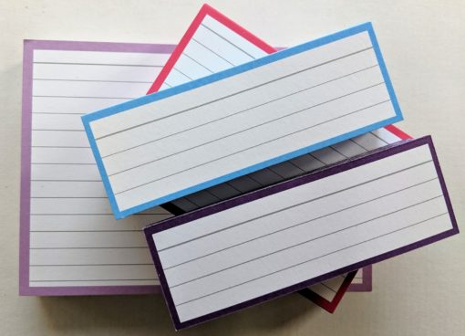 Testpack Flashcards Blue Pink Purple Lilac
