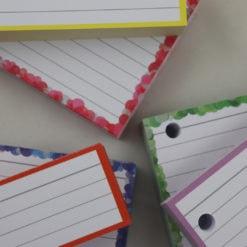 Giftpack 150 A7 flashcards 150 Halve flashcards Confetti - Lilac Confetti Specials