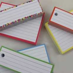 Giftpack 150 A7 flashcards 150 Halve flashcards - perforated